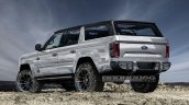 Ford Bronco 4-door rear three quarters rendering second image