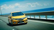 Honda Fit Cross Style front three quarters in motion