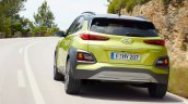 Hyundai Kona rear three quarters