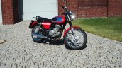 Jawa 350 OHC live images front three quarter right