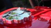 Jawa 350 OHC live images front three quarter fuel tank lid