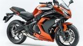 Kawasaki Ninja 400 orange front three quarter