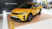 Kia Stonic front three quarters yellow