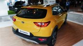 Kia Stonic rear three quarters yellow