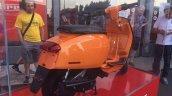 Lambretta V Special orange rear three quarter