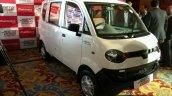 Mahindra Jeeto Minivan India launch white front three quarter