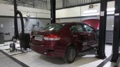 Maruti Ciaz rear three quarters at NEXA Service