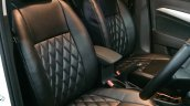 Maruti Vitara Brezza custom black leather upholstery front