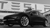 Production Tesla Model 3 front three quarters