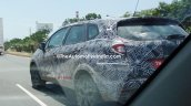 Renault Captur (Renault Kaptur) rear three quarters close spy shot India
