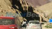 Renault Captur testing with Hyundai Creta spy shot Leh