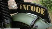 Royal Enfield Bullet 350 Encode by Haldankar Customs badging