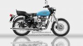 Royal Enfield Bullet ES 350 side Redditch Blue - IAB Rendering