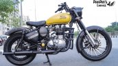 Royal Enfield Classic 350 in Matte Yellow by ParPin's Garage side right