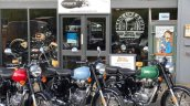 Royal Enfield Classic 500 Redditch all colours front three quarter