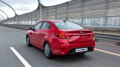 Russian-spec 2017 Kia Rio sedan rear three quarters left side