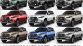 SAIC Maxus D90 colour choices