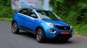 Tata Nexon Review Test Drive Action Shot Corner