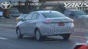 Thai-spec 2017 Toyota Yaris Sedan rear three quarters spy shot