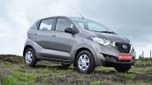Datsun redi-GO 1.0 Review gray right front three quarters
