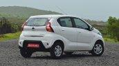 Datsun redi-GO 1.0 Review white right rear three quarters