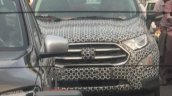 2017 Ford EcoSport facelift spied front grille and headlamps