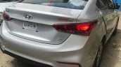 2017 Hyundai Verna caught completely undisguised rear three quarters