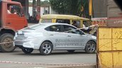 2017 Hyundai Verna spied on way to dealership rear three quarters