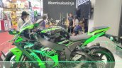2017 Kawasaki Ninja ZX10-R with Akrapovic left side at GIIAS 2017