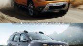 2018 Dacia Duster vs. 2014 Dacia Duster front three quarters right side