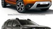 2018 Dacia Duster vs. 2014 Dacia Duster front three quarters