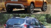 2018 Dacia Duster vs. 2014 Dacia Duster rear three quarters left side