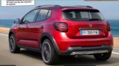 2018 Dacia Sandero Stepway rear three quarters rendering