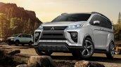 2018 Mitsubishi Delica front three quarters rendering