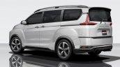 2018 Mitsubishi Delica rear three quarters rendering
