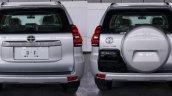 2018 Toyota Land Cruiser Prado (facelift) rear spy photo