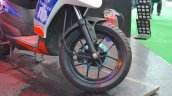 Aprilia SR150 front wheel with Chelsea livery at Nepal Auto Show 2017