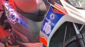 Aprilia SR150 side sticker with Chelsea livery at Nepal Auto Show 2017