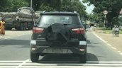 Ford EcoSport 2017 spotted with no covers panther black rear view