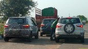 Ford EcoSport facelift spotted in Moondust Silver Smoke Grey rear
