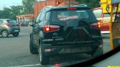 Ford EcoSport facelift spotted in Panther Black Titanium trim rear view