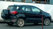 Ford EcoSport facelift spotted in Panther Black Titanium trim