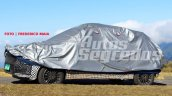2018 Ford figo facelift spied in brazil covered front