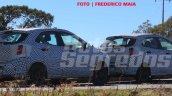 2018 Ford figo facelift spied in brazil right rear three quarters