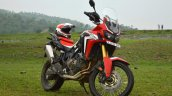 Honda Africa Twin India review front right quarter shot