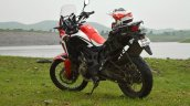 Honda Africa Twin India review rear three quarters