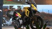 Honda CB190X yellow right front quarter