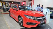 Honda Civic sedan front three quarters at Nepal Auto Show 2017