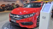 Honda Civic sedan front three quarters left sideat Nepal Auto Show 2017