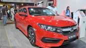 Honda Civic sedan front three quarters right side at Nepal Auto Show 2017
